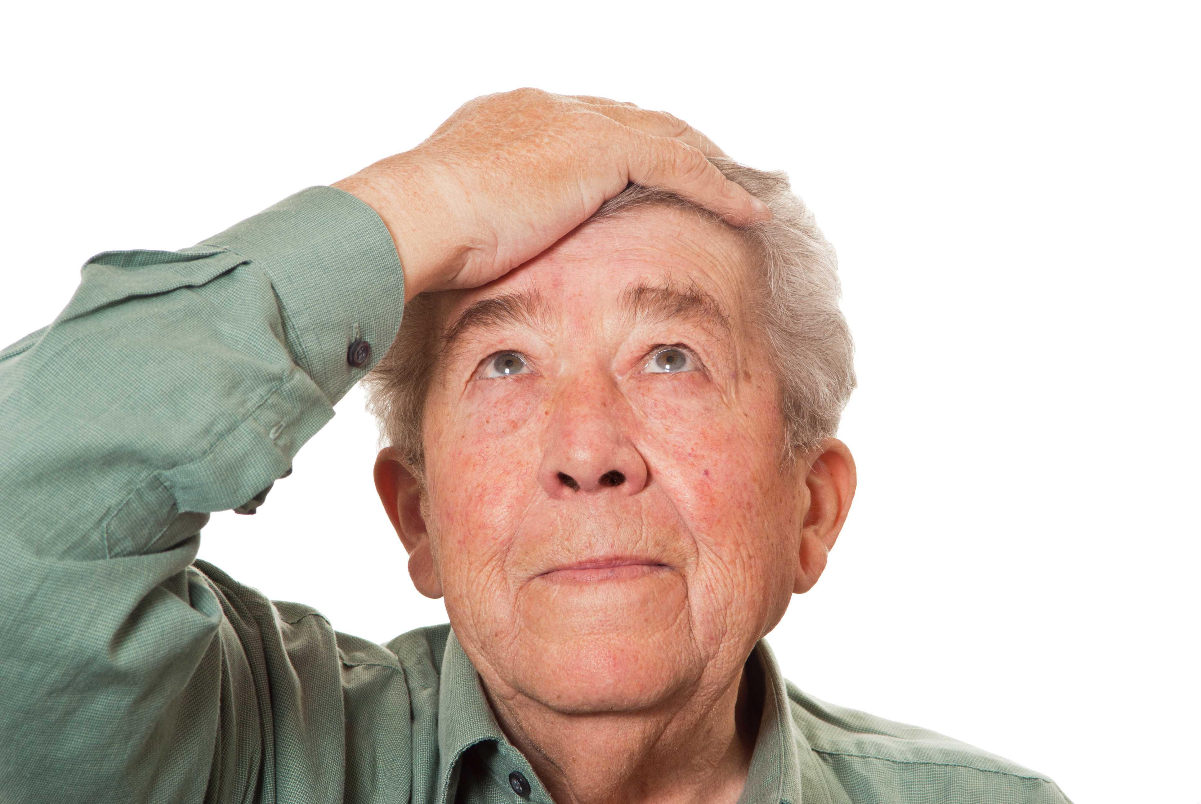 Alter Mann mit Demenz